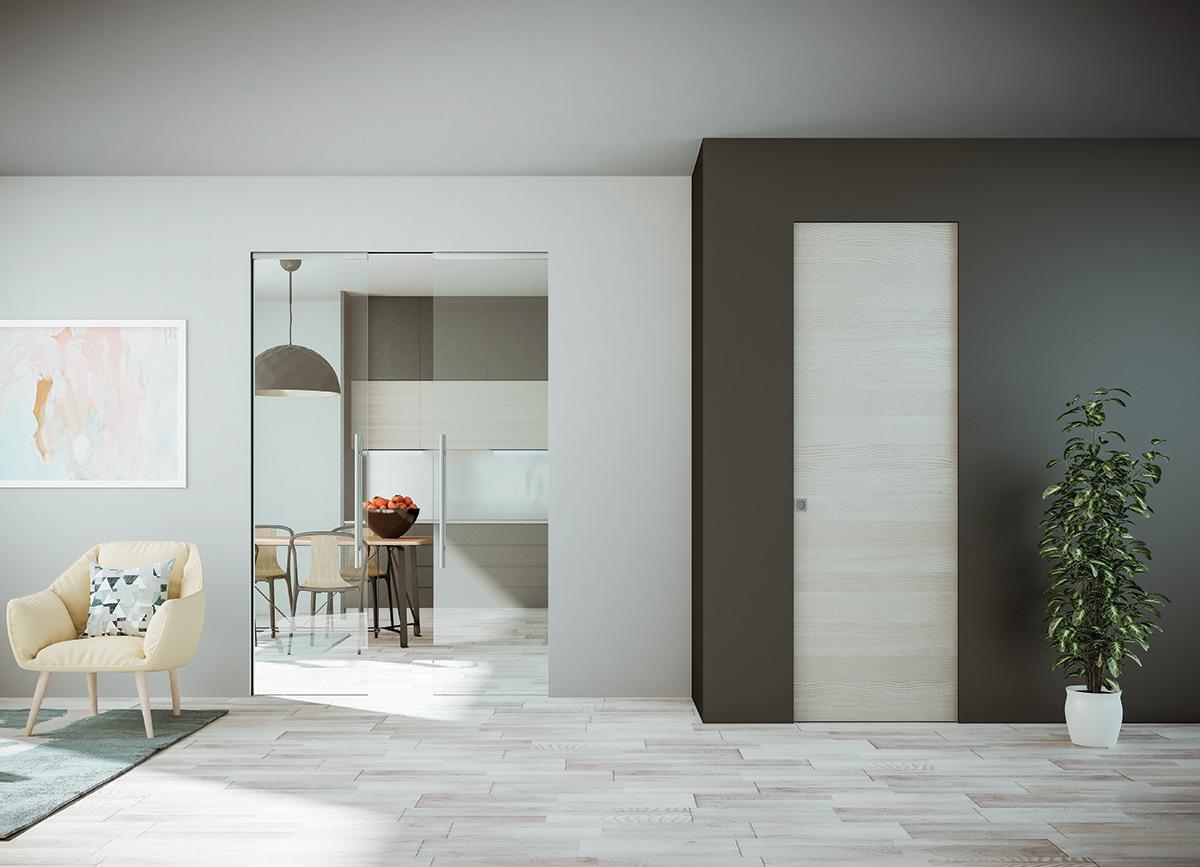 Porte Scorrevoli Stile Industriale porte interne - soluzioni metalliche residenziali verande